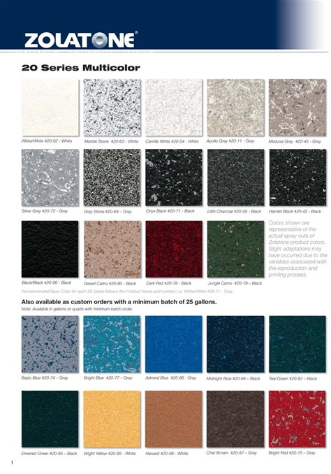 zolatone paint color chart zolatone 20 series multicolor chart from aircraft spruce