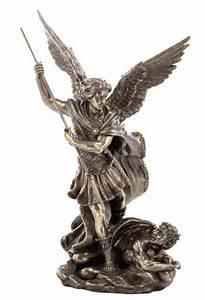 St. Michael Archangel Slaying Demon w/ Spear Statue ...