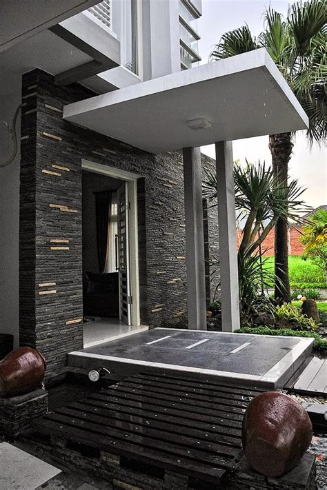 contoh desain kanopi beton rumah minimalis terbaru