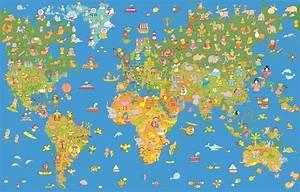 Tapete Weltkarte Kinderzimmer : fototapete weltkarte f r das kinderzimmer tapete fototapete kids tapeten bei retro ~ Sanjose-hotels-ca.com Haus und Dekorationen