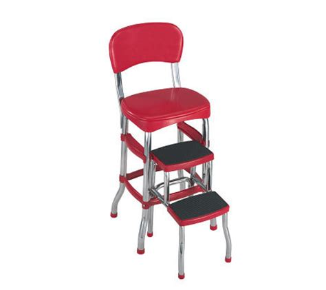 Cosco 11120red1 Retro Chairstep Stool by Cosco Retro Counter Chair Step Stool Qvc
