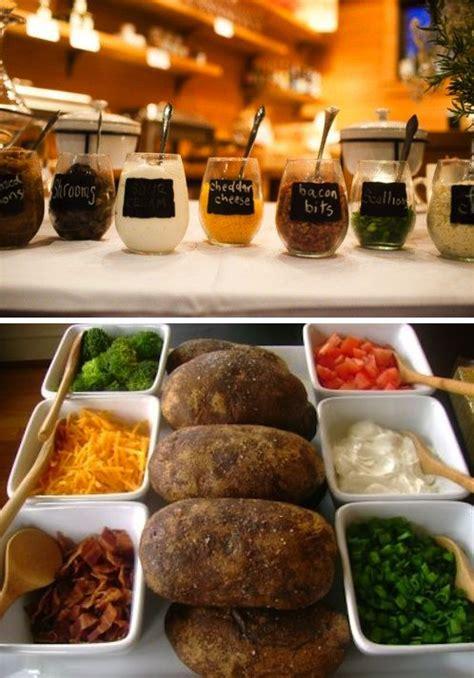potato bar fun food display baked potato bar 187 alexan events denver wedding planners colorado wedding