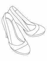Coloring Heel Pages Sandals Shoes Heels Shoe Drawing Printable Template Bestcoloringpages Sheets Line Print Adult Getcolorings Dress sketch template