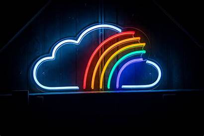 Rainbow Led Cloud Neon Signs Aesthetic Wallpapers