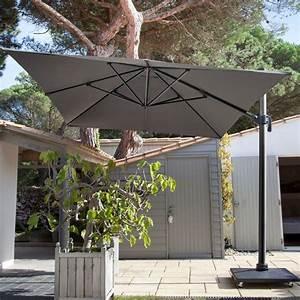 Parasol Déporté Aluminium : parasol d port inclinable aluminum 3x4 m gris carton gamm vert ~ Teatrodelosmanantiales.com Idées de Décoration