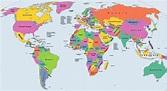 Mapamundi Político 🥇 【 Los Mejores Mapas Políticos del Mundo 】