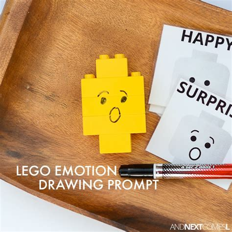 lego emotion drawing activity  kids