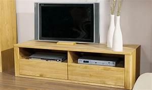 Meuble Tv Haut De Gamme En Chne Massif Design Contemporain