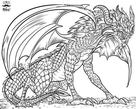 Dragons Coloring Book Fattkay