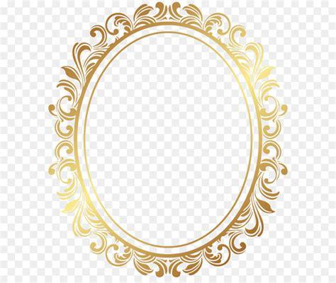 picture frame oval border deco frame png clip art