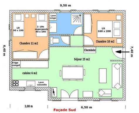 plan plain pied 3 chambres house plan chalet of vixard
