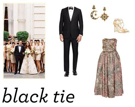 black tie wedding dress code wedding definition ideas