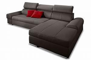 Sofa Mit Schlaffunktion Leder : leder ecksofa broadway mit schlaffunktion grau sofas zum halben preis ~ Bigdaddyawards.com Haus und Dekorationen
