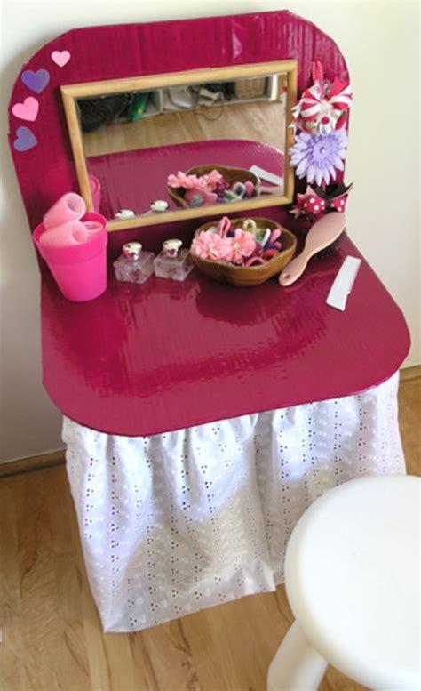 toddler vanity table diy dressing table from cardboard kidsomania