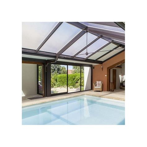 toiture pour veranda en polycarbonate adh 233 sif pour vitrage plexiglass toiture serre veranda