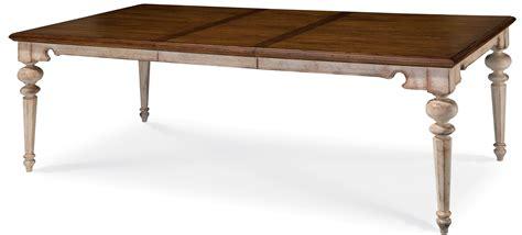 extendable rectangular dining table belmar antique linen rectangular extendable dining table