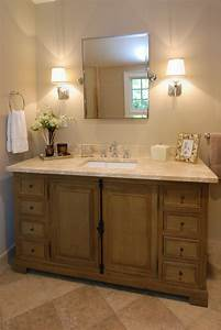 french country vanity Bathroom Traditional with brown