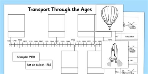 transport through the ages worksheet activity sheet