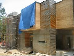 Modern Exterior Panel Siding Design Week The Exterior Mixing Exterior Cleaners House Cleaners Stone Cleaners Window Cleaners New England Contemporary Transitional Exterior Home Designed By Architect Randy Bens Also Has Dark Stained Cedar