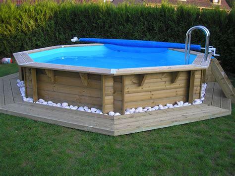 am 233 nagement piscine hors sol octogonale bois