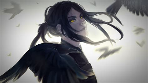Download 1920x1080 Anime Boy Crows Semi Realistic Cool