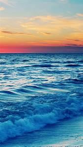 Nature Sunset Sea Wave Landscape #iPhone #6 #plus # ...
