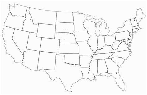 map   united states coloring page coloring pages