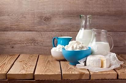 Milk Cheese Dairy Still Wood Board Background