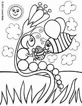 Coloring Colouring Easter Pages Caterpillar Printable Children Printouts Happy Drawing Hungry Colourings Blank Bee Very Clipart Childrens Getcolorings Clip Cliparts sketch template