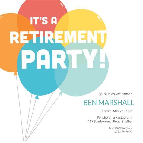 retirement farewell party invitation template