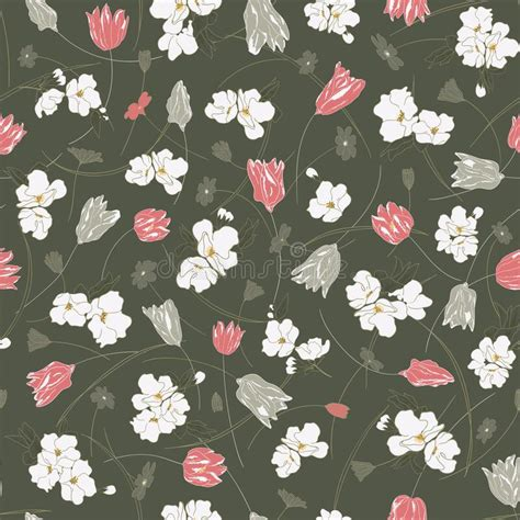 Ditsy White Floral Seamless Stock Illustrations – 5,447 ...