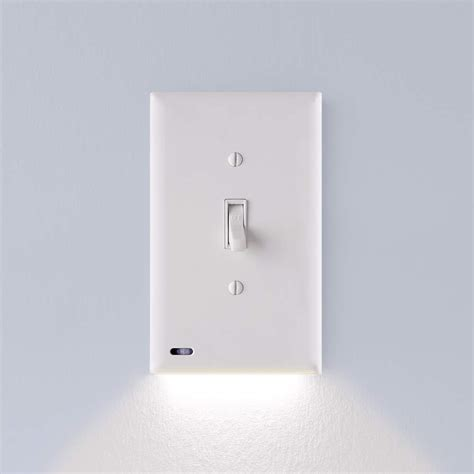 single light switch cover plate built in led night light