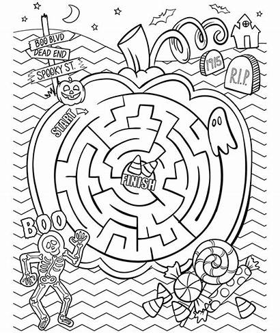Maze Coloring Pages Crayola Halloween Printables Printable