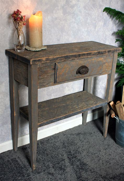 small entry table gray wood sofa table gray reclaimed wood