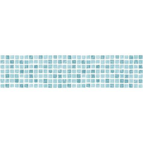 fine decor ceramica mosaic tile adhesive border aqua