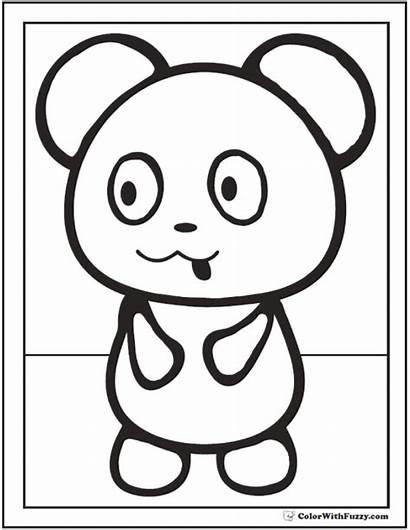 Panda Coloring Pages Pandas Drawing Preschool Bears