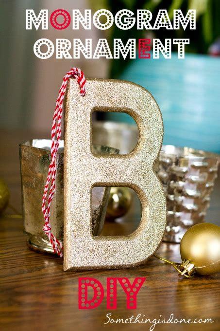 diy glitter monogram ornament