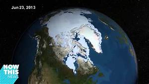 NASA time lapse shows the Arctic ice cap melting - YouTube