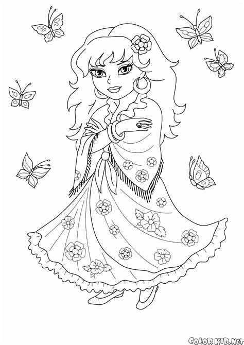 coloring page princess magdalene