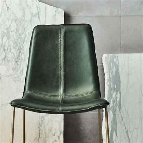 slope leather dining chair west elm