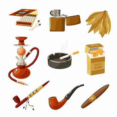 Tobacco Vector Icons Smoking Cigarette Pack Clipart