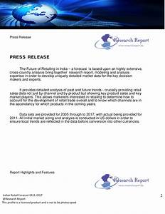 Retail forecast of india2011 press release