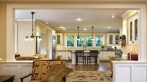 Open Plan Kitchen Family Room Ideas - small kitchen living room open floor plan wood floors