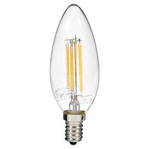 luminus filament led bulb 4w b11 e12 warm white