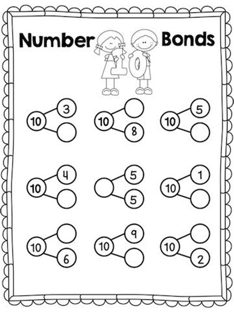 Number Bonds Worksheets Kindergarten  18 Best Images Of Number Bond Worksheets For Kindergarten