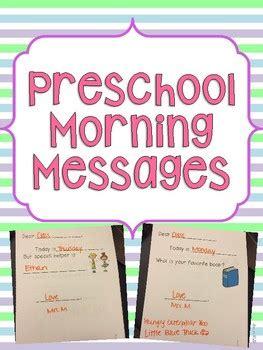 preschool morning messages  fun  ecse teachers pay