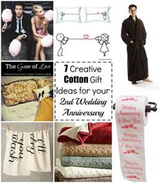 wedding anniversary gift ideas 7 cotton gift ideas for your 2nd wedding anniversary