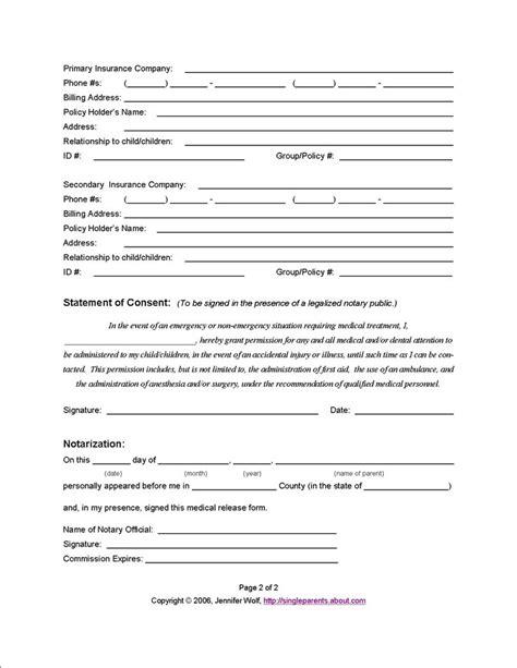 medical release form page   jennifer wolf