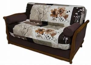 Housse Pour Canapé En Cuir : housse pour canape avec accoudoir en bois ~ Melissatoandfro.com Idées de Décoration
