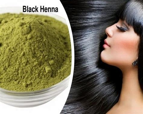 Green Natural Black Henna Hair Dye Powder For Personal And
